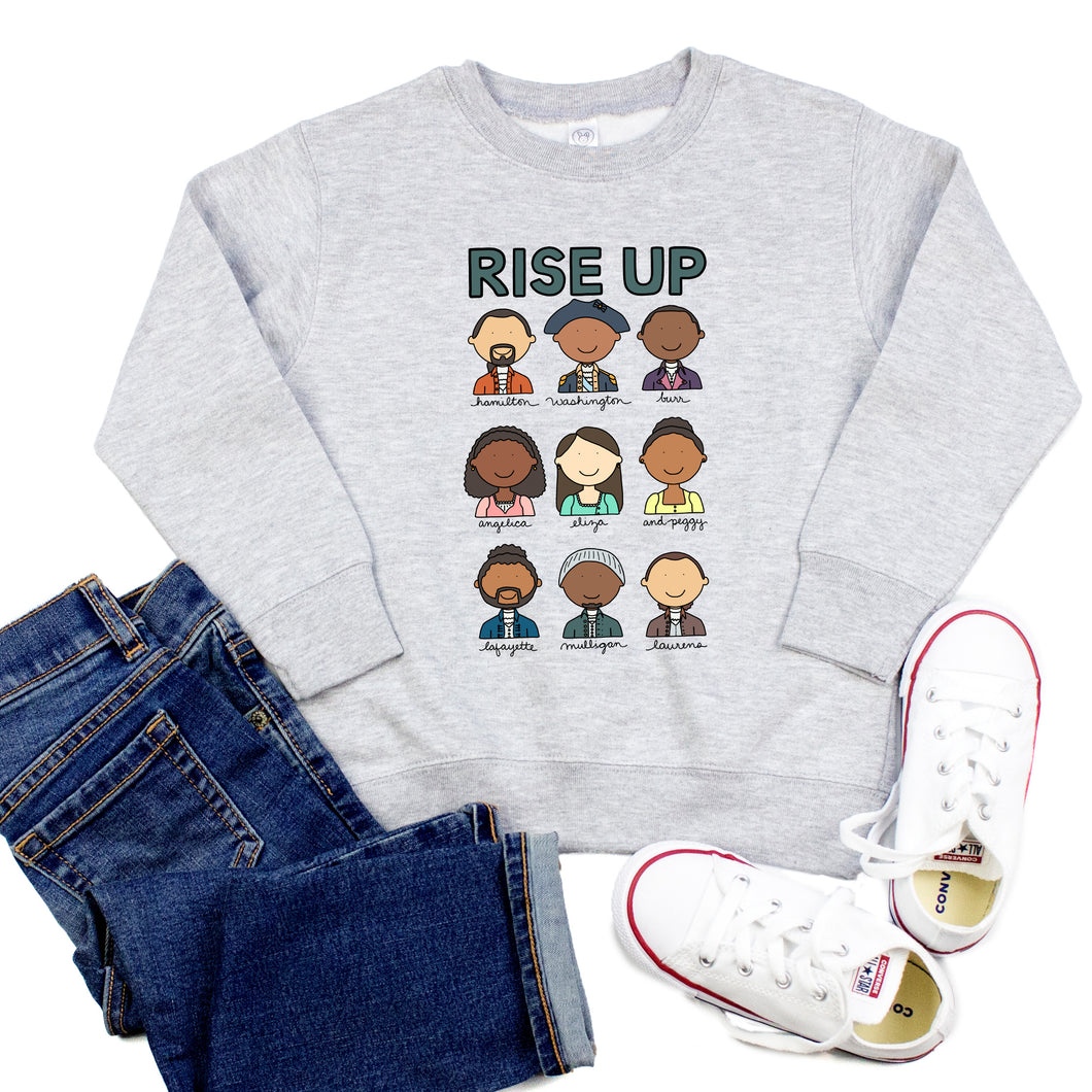 Hamilton Rise Up Youth & Toddler Sweatshirt (Hoodie or Crewneck)