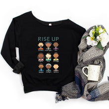 Load image into Gallery viewer, Hamilton Rise Up Adult Sweatshirt - feminist doodles