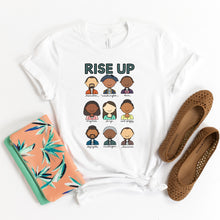 Load image into Gallery viewer, Hamilton Rise Up Adult T-Shirt