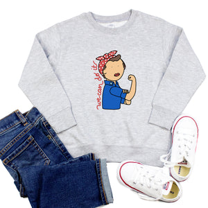 Rosie the Riveter Youth & Toddler Sweatshirt (Hoodie or Crewneck)