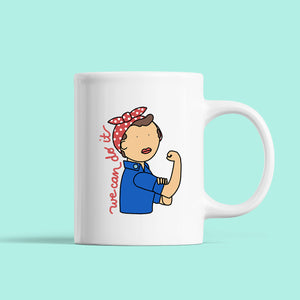 Rosie the Riveter Mug - feminist doodles
