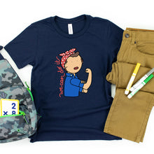 Load image into Gallery viewer, Rosie the Riveter Kids' T-Shirt - feminist doodles