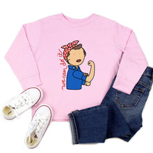Load image into Gallery viewer, Rosie the Riveter Youth & Toddler Sweatshirt (Hoodie or Crewneck)