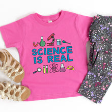 Load image into Gallery viewer, Science is Real Kids' T-Shirt - feminist doodles