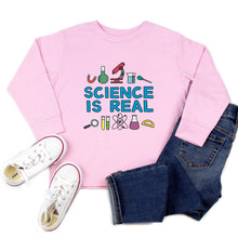Load image into Gallery viewer, Science is Real Youth & Toddler Sweatshirt (Hoodie or Crewneck)