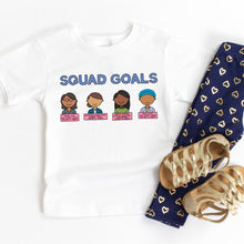 Load image into Gallery viewer, Squad Goals Kids' T-Shirt - feminist doodles