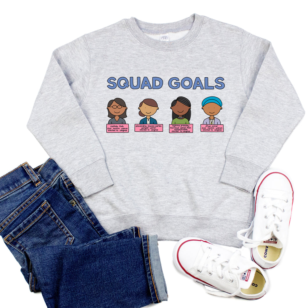 Squad Goals Youth & Toddler Sweatshirt (Hoodie or Crewneck) - feminist doodles