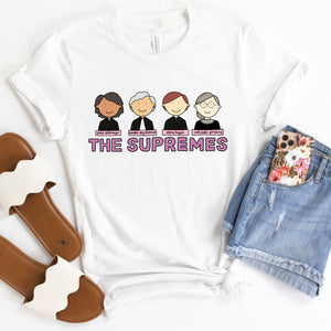 The Supremes Women of the Supreme Court Adult T-Shirt - feminist doodles