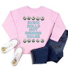 Load image into Gallery viewer, Sushi Rolls Not Gender Roles Youth & Toddler Sweatshirt (Hoodie or Crewneck) - feminist doodles