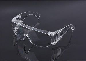 Safety Goggles, Anti-Fog Anti-Dust Windproof Transparent Wide-Vision Eye Protection Goggles