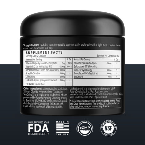 F COFFEE Supplement Facts