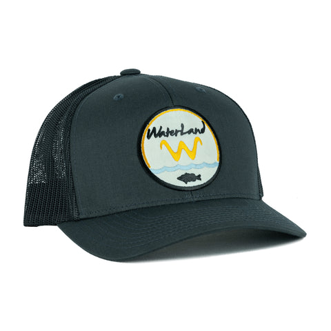 Underwater Land SnapBack - Charcoal