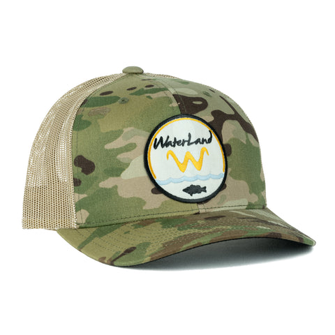 Underwater Land SnapBack - Camo/Tan