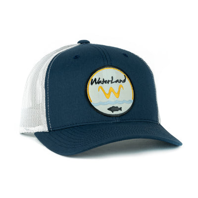 Underwater Land SnapBack - Navy/White