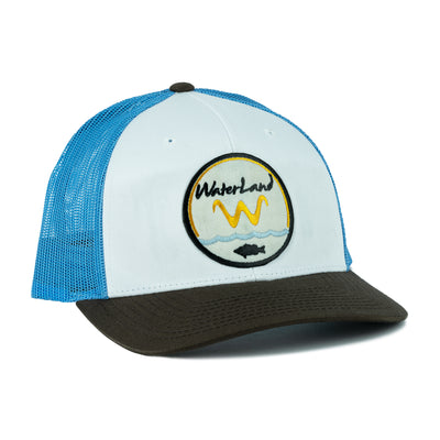 Underwater Land 'LowPro' SnapBack - White/Blue/Brown