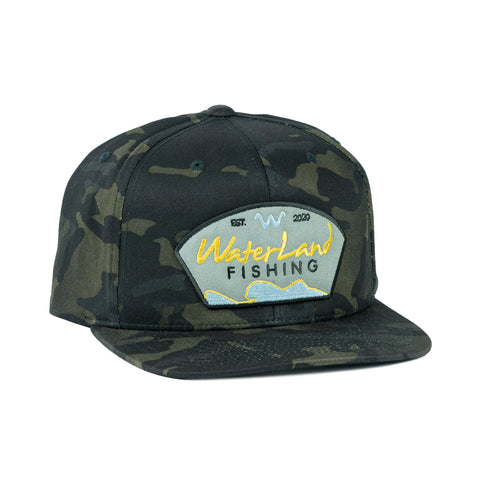 Golden Days Flat Bill SnapBack - Camo Black