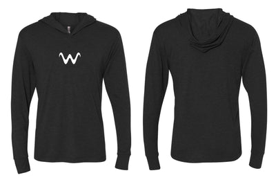 WaterLand Wave Hooded SunShirt - Heather Black
