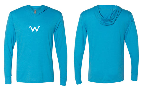 WaterLand Wave Hooded SunShirt - Turquoise