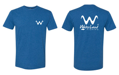WaterLand 'Angler' Premium Tee - Heather Cool Blue