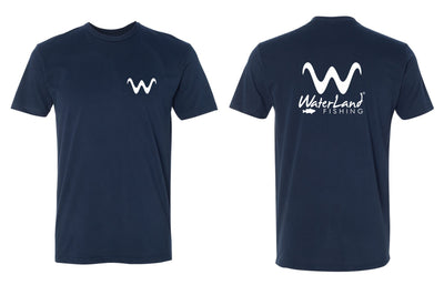 WaterLand 'Angler' Premium Tee - Navy