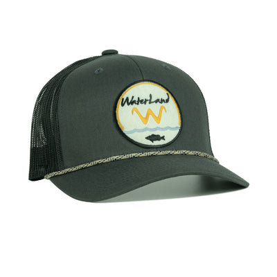 Underwater Land 'LowPro' SnapBack - Rope - Charcoal/Black