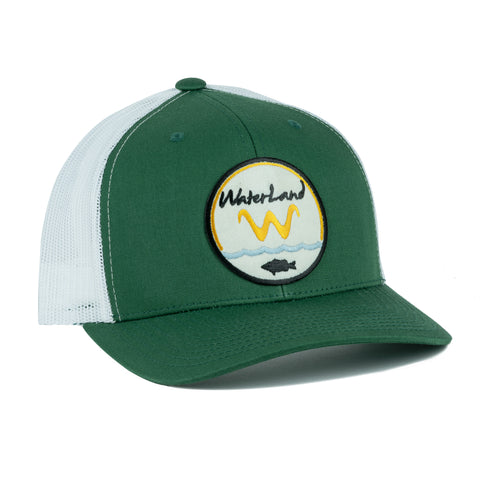 Underwater Land SnapBack - Evergreen/White