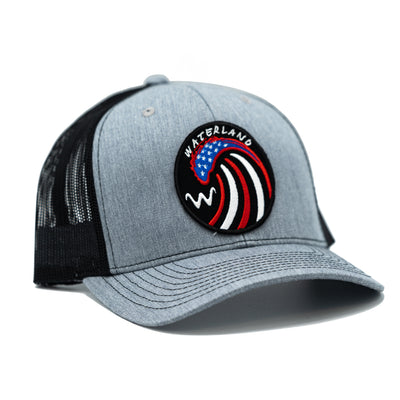 'American Wave' - Heather Gray/Black