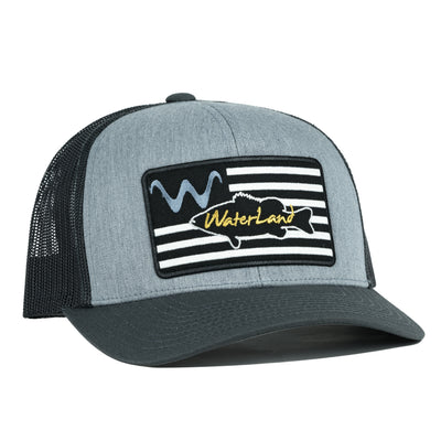 WaterLand Flag SnapBack - Heather Gray/Charcoal