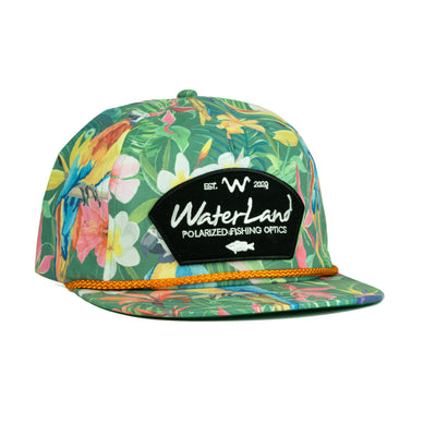 WaterLand Flowers Flat Bill SnapBack - Rope - Floral