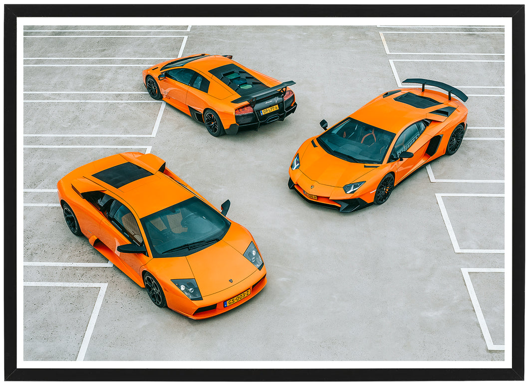 Lamborghini threesome poster front th