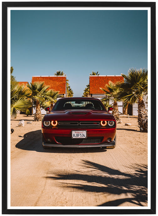 Dodge Challenger front poster th