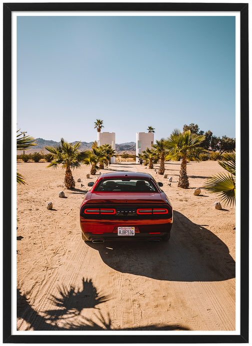 Dodge Challenger rear poster th