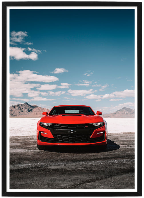 Chevrolet Camaro SS front poster th