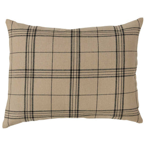 Fieldstone Plaid Black Queen Standard Sham