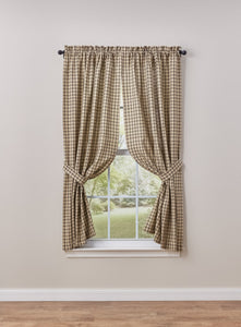 Stoneboro Check Curtain Panel Pair
