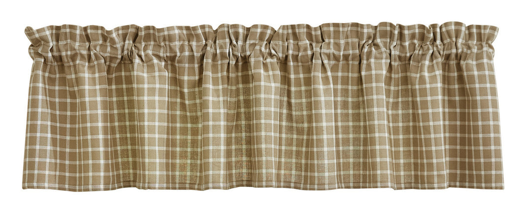 Stoneboro Check Cream Valance