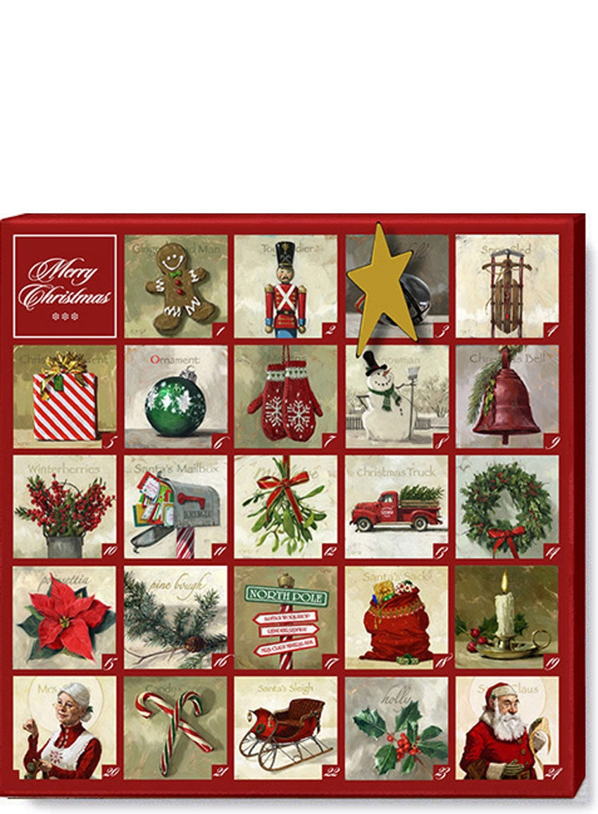 Christmas Advent Wall Canvas