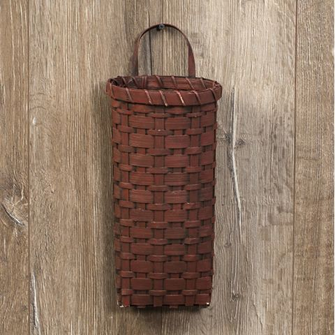Red Short Wall Basket