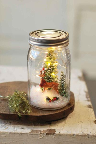 Reindeer Scene in a Jar