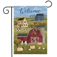 Spring Countryside Welcome Garden Flag