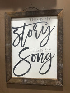 This is My Story Framed Wall Art