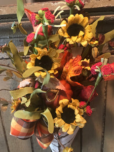 Fall Florals In Cream Tin