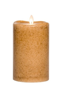 Mottled Pillar Candle in Spice