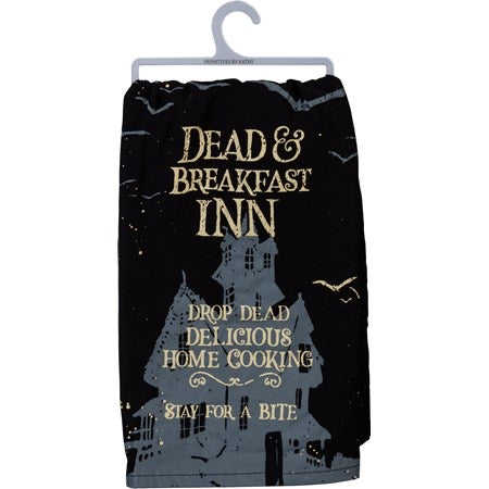 Dead & Breakfast Inn Tea Towel