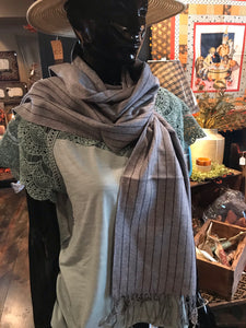 Gray Lines Scarf