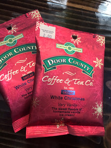 Door County Coffee 1.5 oz Pack of Decaf White Christmas