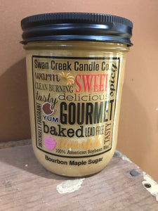 Swan Creek Bourbon Maple Sugar 12 oz Pantry Jar Candle
