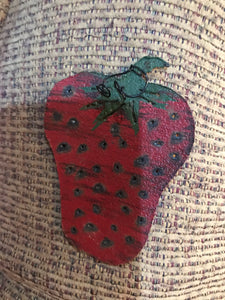 Small Metal Strawberry Magnet