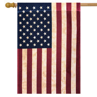Tea Stained American House Flag