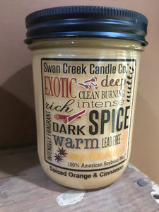 Swan Creek Spiced Orange & Cinnamon 12 oz Pantry Jar Candle